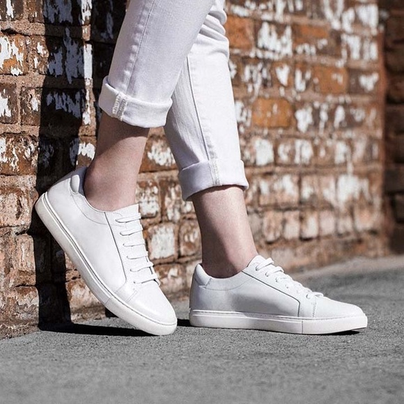 Kenneth Cole Kam White Leather Sneakers